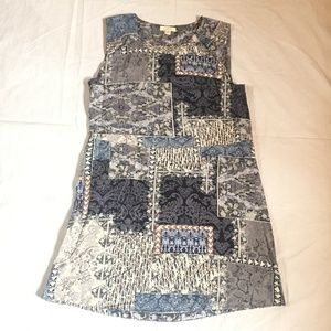 Lucky Brand Floral Paisley Rayon Shift Dress